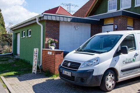 Fahrzeug der Grünen Werkstatt